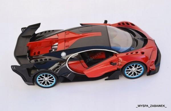 Auto Sterowane RC Bugatti Vision CZERWONE Certyfikaty opinie atesty CE