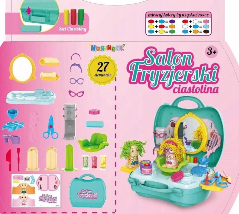 Ciastolina SALON FRYZJERSKI w walizce Masa Plec Chlopcy Dziewczynki