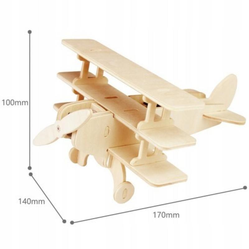 samolot puzzle drewniane 2
